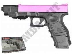 P698+ Pink BB Gun Glock G33 Tactical Replica Spring Powered Airsoft Pistol 2 Tone